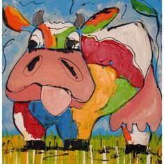 Grappige moderne kleurrijke koe, #koe #vrolijk #funny #cow - artdeals