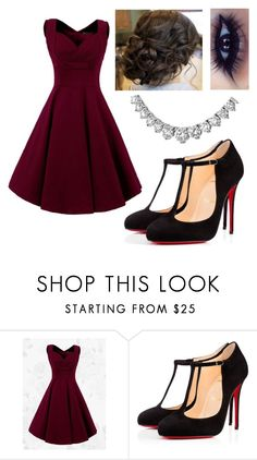"""Date Night PRP"" by alwaysapotter-head ❤ liked on Polyvore featuring Christian Louboutin"