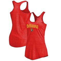 Ottawa Senators Women's Free Hand Tri-Blend Racerback Tank Top - Red - $29.99