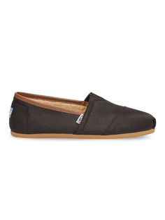 For the casual and practical man in your life - TOMS men's Black Brown Aviator Twill Classics are easy to slip-on but hard to take off thanks to the warm, shearling lining.