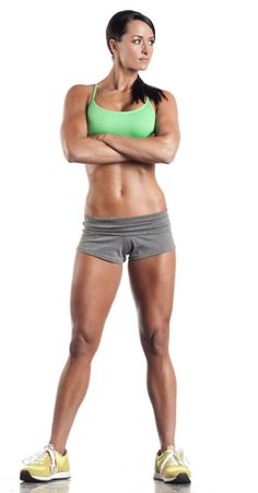 strong and fit @Erika Raymond your favorite workout idol.  I just started her cutting program today!  Can't wait to see results.