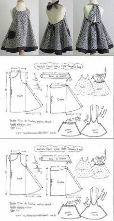 Baby Girl Dress Patterns, Baby Clothes Patterns, Dress Sewing Patterns, Clothing Patterns, Baby Dress Design, Girls Frock Design, Kids Dress Wear, Dresses Kids Girl, Girls Dresses Sewing
