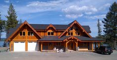 timber frame homes exterior - Google Search