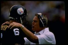 Bubby Brister and Chuck Noll #steelers