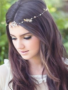 Hey, I found this really awesome Etsy listing at https://www.etsy.com/listing/177961564/bridal-hair-vine-forehead-band-brass