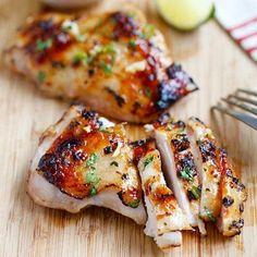 Chili lime chicken - moist and delicious chicken marinated with chili and lime and grill to perfection. Easy recipe that takes 30 mins | rasamalaysia.com