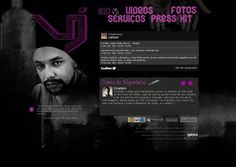 Old Layout WebSite VJ Dado França