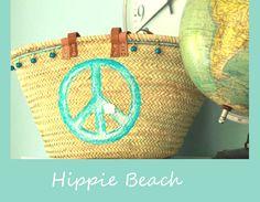 """Korbtasche/Strandtasche """"Hippie Beach"""" von Sabine Lambrecht auf DaWanda.com"""