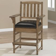 American Heritage King Chair Finish: Glacier