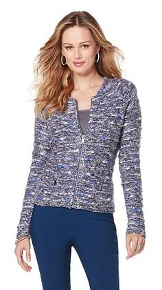 Easy everyday style: MarlaWynne Jaspe Heathered Knit V ...