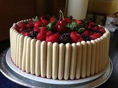 White finger fruit cake