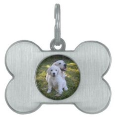 #Golden Retriever Mom and Puppy Pet Name Tag - #pettag #pettags #dogtag #dogtags #puppy #dog #dogs #pet #pets #cute #doggie