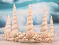 Mermaid twisted seashells and pearls beach by KeepsakesByTheSea