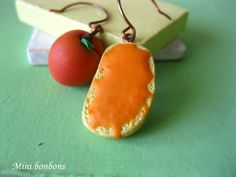 Apricot and bread with apricot jam earrings  by Minibonbons, €11.00