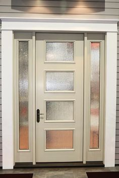 """New mid century doors available from Therma-Tru - Retro Renovation - Mid century front door // Therma Tru """"Pulse"""" line // a little cheaper than Crestview? Front Door Entrance, House Front Door, Glass Front Door, Front Entrances, Entry Doors, Front Entry, Front Doors With Windows, Glass Doors, Entryway"""