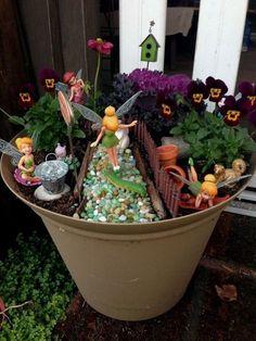Sophisticated Fairy Garden Design Ideas To Try Asap 15 Mini Fairy Garden, Fairy Garden Houses, Gnome Garden, Dream Garden, Disney Garden, Garden Images, Miniature Fairy Gardens, Succulents Garden, Amazing Gardens