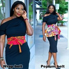 Style inspiration for a chic woman! Wrap belt or peplum belt? Latest African Fashion Dresses, African Inspired Fashion, African Print Dresses, African Print Fashion, African Dress, Ankara Fashion, Ankara Short Gown Styles, Trendy Ankara Styles, African Attire