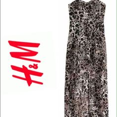 Beautiful leopard printed dress I would model this item, but unfortunately it does not fit me around my bust. Everything you want to know about the dress, is ALL in the I hope it will satisfied the buyer with the perfect size, than it did me H&M Dresses Strapless