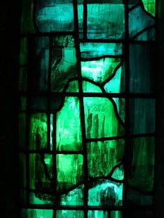 coloured glass - Cambridge. Churchill College. John Piper Glass