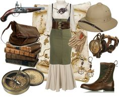 Steampunk Explorer, created by cherrygoodday on Polyvore