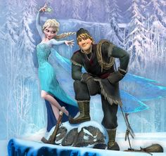 Even though it looks like she's about to freeze him in this pic, I really wish Elsa and Kristoff would have ended up together....I NEED MORE FANART OF THIS!