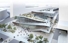 The Japanese architect Kengo Kuma will be building the Saint-Denis Pleyel train station, a project which is part of the ambitious Grand Paris Express (GPE) plan to modernize the existing transport network and connect new neighborhoods. Kengo Kuma, Win Competitions, Design Competitions, Architecture 3d, Architecture Websites, University Architecture, Grand Paris, Metro Station, Minimalist Decor