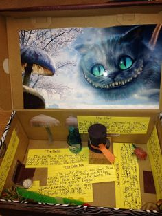Book in a Box project: Alice's Adventures in Wonderland...many more ideas in the link.