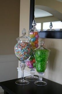 Could make a cute Easter table scape! by nadineSpring apothecary jar fillers. Could make a cute Easter table scape! by nadine Hoppy Easter, Easter Eggs, Easter Bunny, Oster Dekor, Diy Osterschmuck, Diy Crafts, Jar Fillers, Bar A Bonbon, Do It Yourself Furniture