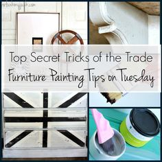 Furniture Painting Tips on Tuesday