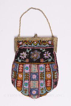 Beaded Purse - c. 1920-22 - Glass, silk, cotton - FIDM Museum & Galleries - @~ Watsonette