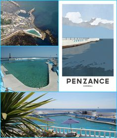 Images of Jubilee Pool, Penzance Cornwall  HISTORY  Described as one of the most unusual and pleasingly designed lidos of the era, the Jubilee Pool was designed in the early 1930s by Captain F Latham, the Borough Engineer. The pool was opened with great celebration in May 1935, the year of King George V's Silver Jubilee.  The Pool was built upon a traditional bathing spot at the Battery Rocks near the harbour at Penzance. Cleverly designed to cope with the full ferocity of the Cornish seas…