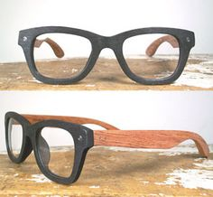 Made from natural rosewood: no two pairs are the same! Completely water resistant, so there's no fear of foul weather. Complete with clear non-prescription lenses, a beautiful wooden box and a new lens cloth!