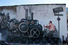 Urban / street art - Martin Ron Murales in Caseros   Buenos Aires   Argentina.
