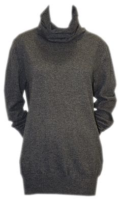 Grey Tunic Jumper with Elbow Patches - Joseph  http://www.room7.co.uk/what-s-new/joseph-grey-knitwear.html