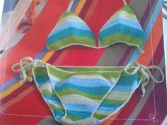 Biquíni de Crochê com gráfico | Belas em ação | Belas em ação
