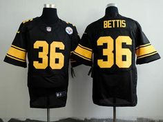 dee341ee1ee Nike Steelers Jerome Bettis Black(Gold No.) Men s Stitched NFL Elite Jersey  And Jason Witten 82 jersey