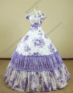Civil War Southern Belle Lolita Ball Gown Dress Reenactment
