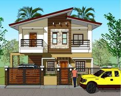 House Plan Purchase - Sets of Plan Blueprint Signed & Sealed) - Only Construction Contract: P M - Low-End/Budget P M - Mid-Range/Standard. Two Story House Design, 2 Storey House Design, Bungalow House Design, Simple House Plans, Simple House Design, New House Plans, Modern Zen House, Modern House Facades, Philippines House Design