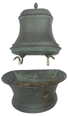 French Copper Wall Basin and Water Reserve on Chairish.com