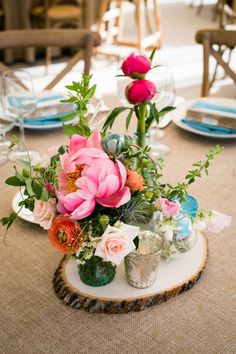 Cute Detail Overload In This California Wedding from Arrowood Photography - wedding centerpiece idea