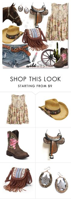 """Wild West Style"" by huda-alalawi ❤ liked on Polyvore featuring Boardwalk Style, Justin Boots, Mudd, Rosita Bonita, polyvoreeditorial and wildwest"
