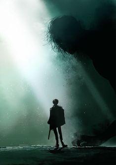 Attack on titan. Shingeki no Kyojin/AoT Mikasa, Armin, Levi X Eren, Ereri, Fanart, Vocaloid, Maou Sama, Images Gif, Attack On Titan Anime