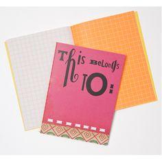 Sara Fanelli Notebook Pink