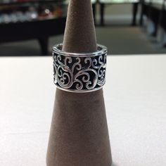 Sterling silver band #jewelry #ring