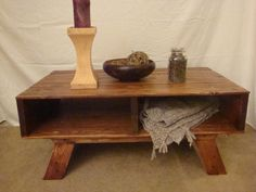 Retro Pallet Coffee Table by DirtFloorFurniture on Etsy, $225.00