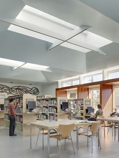 daylight - skylights in a library