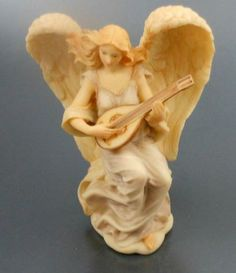 Retired Fenton Glass Angels   Details about Retired Roman Seraphim Angel Lydia WInged Poet 1993