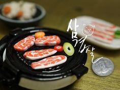 미니어쳐 삼겹살 만들기(Create a miniature bacon) - YouTube