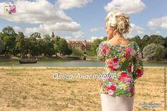 """Купить Пуловер """"Елена"""",авторская работа - разноцветный, цветочный, пуловер, бабочки, лето, ирландское кружево"""