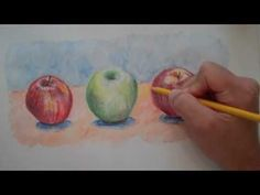 One method of starting out using watercolor pencils.